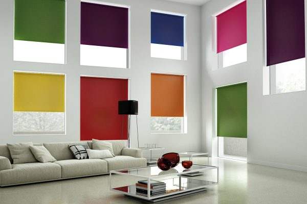 Fabric Box bright roller blinds
