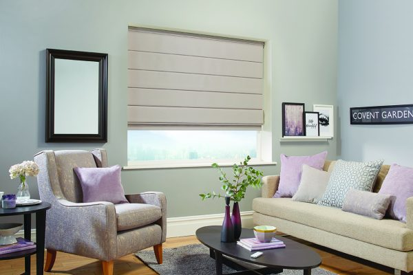 Luovolite Roman blinds open