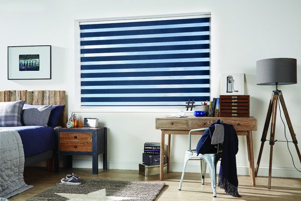 Luovolite night and day blinds navy