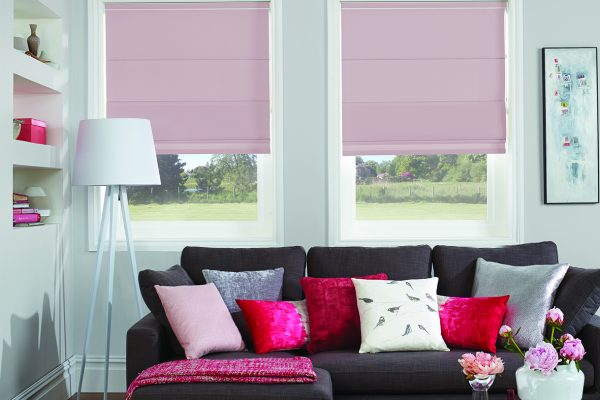 Luovolite Roman blinds heather