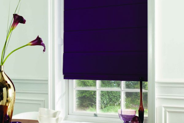 Luovolite Roman blinds grape
