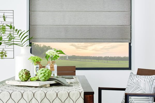 Louvolite Roman blinds newport seagrass