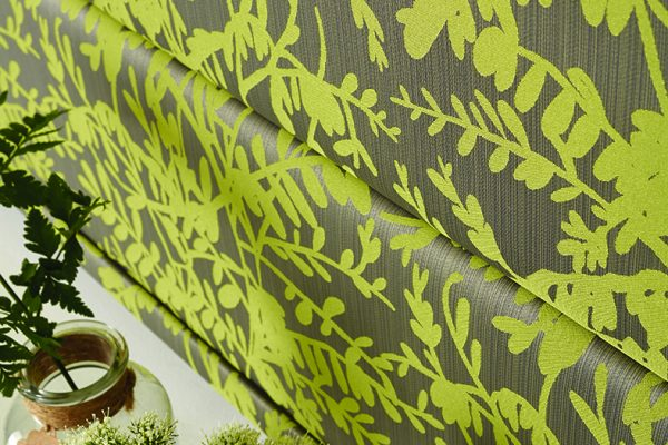 Louvolite Roman blinds paradise chartreuse close-up