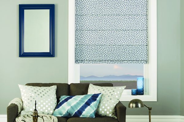 Louvolite Roman blinds spotty