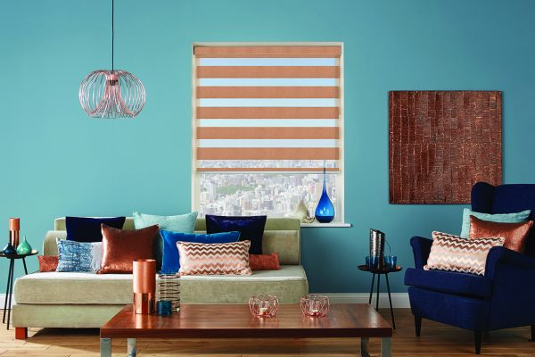 Luovolite night and day blinds copper