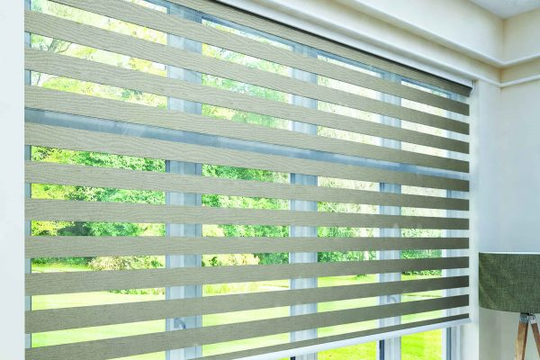 Luovolite night and day blinds Tuscany mink