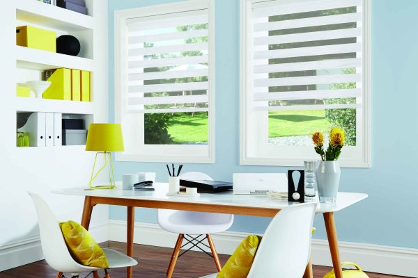 Luovo Lite night and day blinds Tuscany white