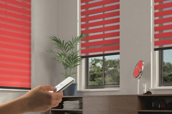 Powershade blinds scarlet