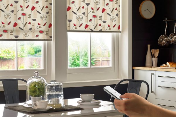 Powershade roller blinds redcurrant
