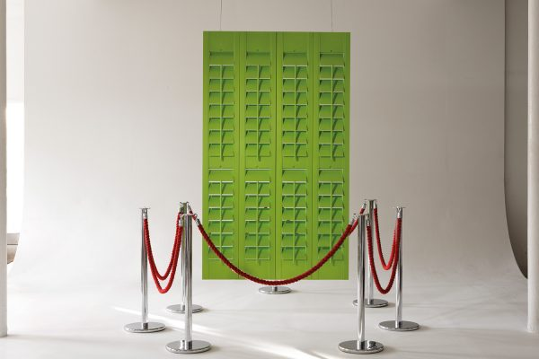 SantaFe-Shutters acid green