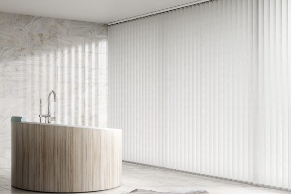 Vertical blinds snow bath