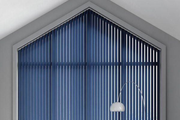 Vertical blinds indigo peak
