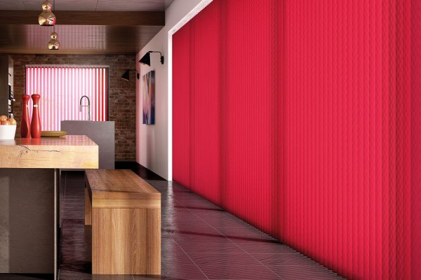 Vertical blinds FabricBox scarlet