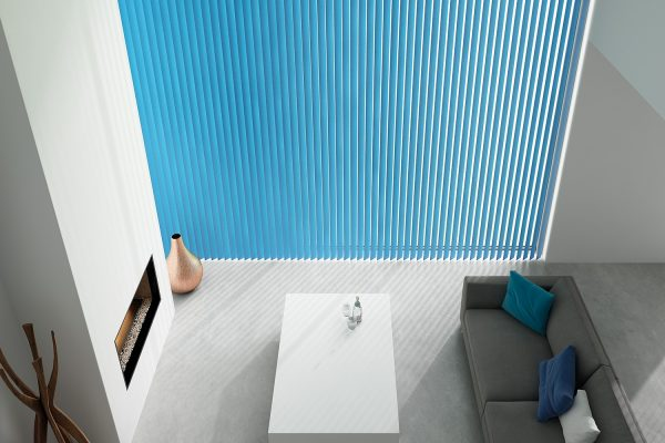 Vertical blinds FabricBox cyan