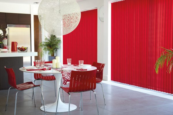 Vertical blinds flame
