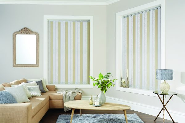 Louvolite vertical blinds coral