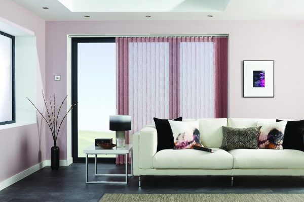 Louvolite vertical blinds elderberry