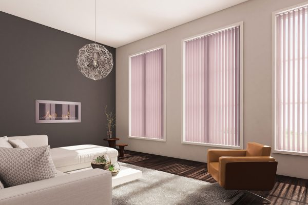Vertical blinds orchid