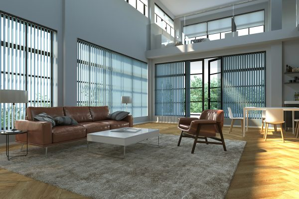 Vertical blinds loft Sense blue
