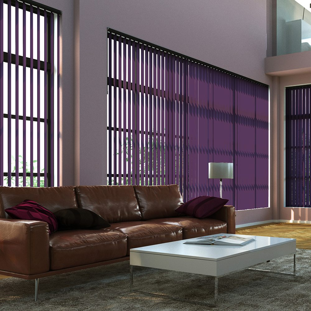Loft senses vertical blinds purple