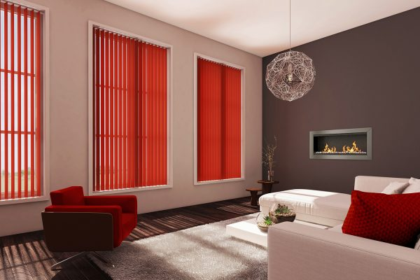 Vertical blinds redcurrant