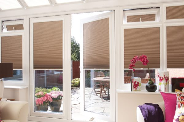 Conservatory blinds open