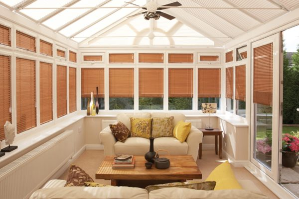 Conservatory blinds venetian