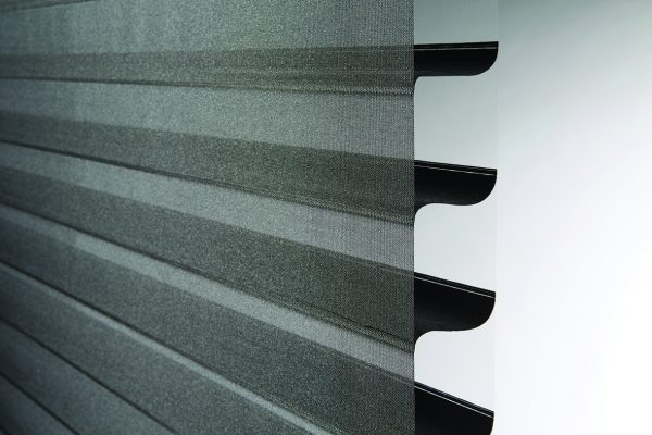Luovolite night and day blinds close up black