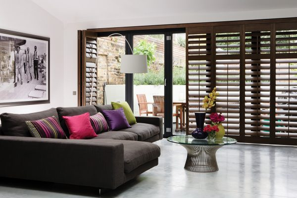 SantaFe-Shutters American walnut