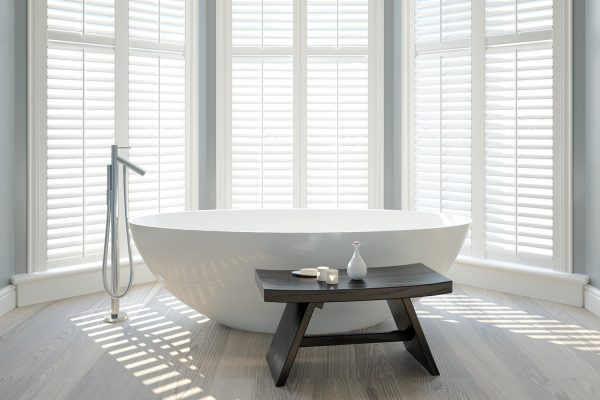 Bath and white shutters