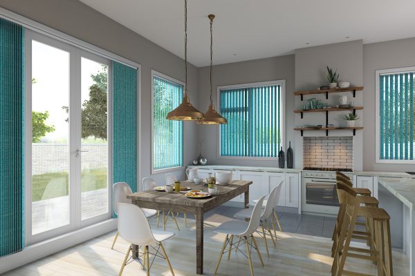 Vertical blinds kitchen ocean