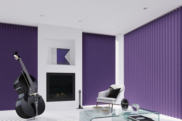 Vertical blinds FabricBox berry
