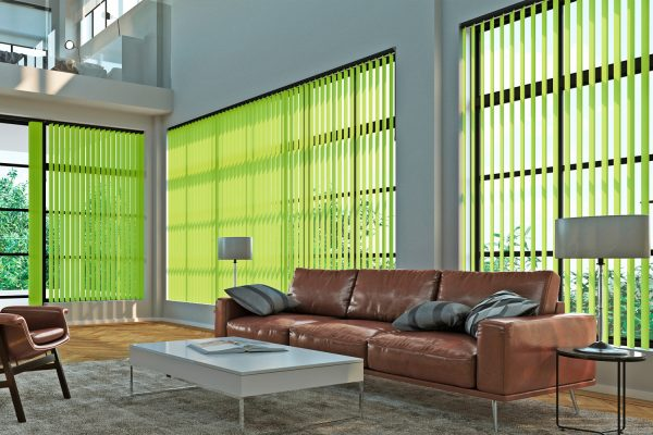 Vertical blinds Nexus loft lime green